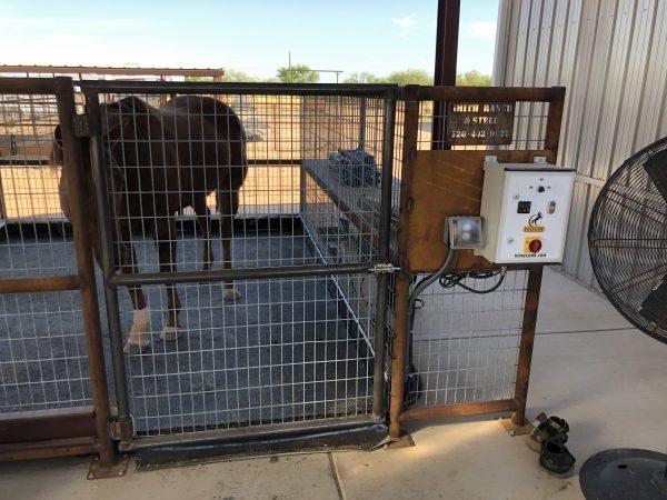 photo of a vitafloor vm2 built-in stall unit