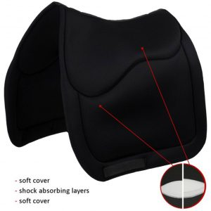 Sedelogic black english dressage pad