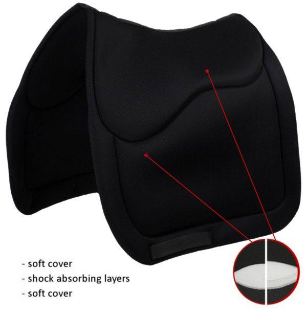 Sedelogic black english dressage pad