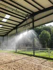q line rain train arena irrigation systems