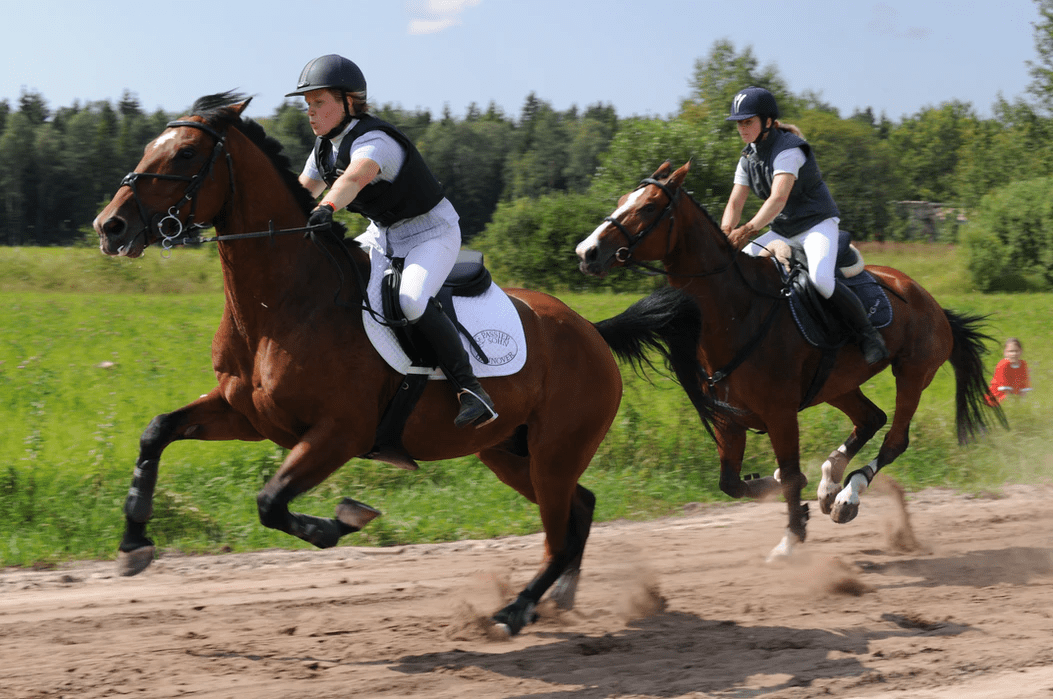 running horse with rider